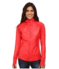 New Balance Quilted Heat Hybrid Jacket Cerise Women's Coat Red