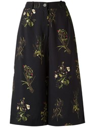 Osklen Cropped Flared Trousers Black