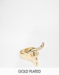 Asos Gold Plated Cow Head Ring
