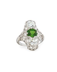 Nm Estate Jewelry Collection Estate Edwardian Demantoid Garnet Dinner Ring