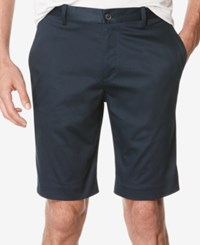 Perry Ellis Men's Flat Front Stretch Performance Shorts Dark Sapphire