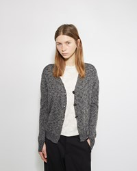 Pas De Calais Speckled Cotton Cardigan Black