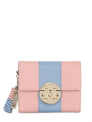 Metrocity Small Striped Saffiano Leather Wallet
