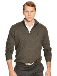 Polo Ralph Lauren Golf By Long Sleeve Half Zip Merino Pullover Heather Squire Squire Heather