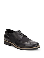 Joe's Jeans Walks Leather And Canvas Derby Wingtips Black