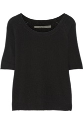 Enza Costa Fine Knit Cashmere Sweater Black