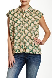 Porridge Sleeveless Printed Blouse Green