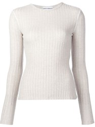 Paco Rabanne Ribbed Jumper Nude And Neutrals