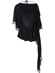 Givenchy Lace Detail Layered Blouse Black
