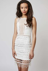 Spice It Up Lace And Crochet Mix Dress By Goldie Ivory
