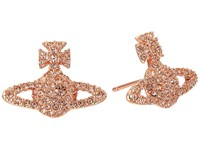 Vivienne Westwood Grace Stud Earrings Light Peach Earring Khaki