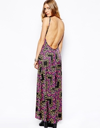Flynn Skye Scoop Back Maxi Dress In Neon Print Neontribal