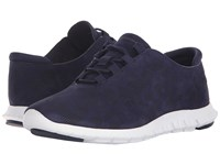 Cole Haan Zerogrand Perf Trainer Marine Blue Perf Nubuck Optic White Women's Shoes