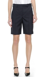 Carven Wool Shorts Navy