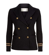Denim And Supply Ralph Lauren Academy Military Jersey Blazer Female Navy