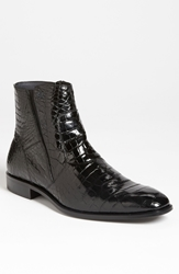Mezlan 'Belucci' Alligator Boot Black