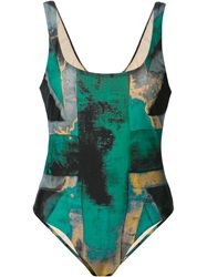 Vivienne Westwood Anglomania 'Propaganda' Swimsuit Green