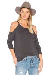 Michael Stars Cold Shoulder Top Gray