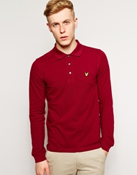 Lyle And Scott Vintage Polo Shirt With Long Sleeves Claretjug