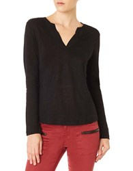 Sanctuary Solid Long Sleeve Top Black