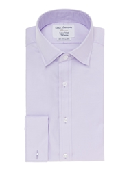 Plain Fully Fitted Long Sleeve Formal Shirt Lilac