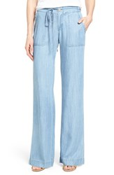 Women's Kut From The Kloth 'Grayson' Wide Leg Chambray Pants