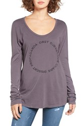 Obey Women's Voucher Long Sleeve Graphic Tee