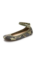 Yosi Samra Abbey Camo Flats With Removable Strap Limette