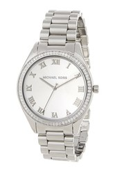 Michael Michael Kors Women's Stainless Steel Crystal Roman Numeral Watch Metallic