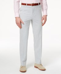 Tommy Hilfiger Blue Seersucker Slim Fit Pants