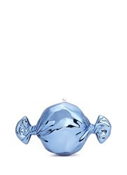 Judith Leiber 'Candy' Metallic Pill Box Blue Metallic