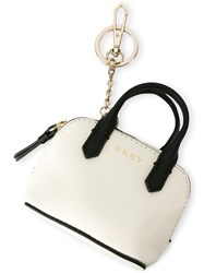 Dkny Bowling Tote Keyring Nude Neutrals