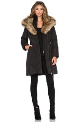 Mackage Trish Jacket With Asiatic Raccoon Fur Black
