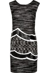 Missoni Metallic Crochet Knit Mini Dress Multi