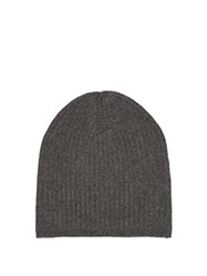 Denis Colomb Cashmere Knit Beanie Hat Dark Grey