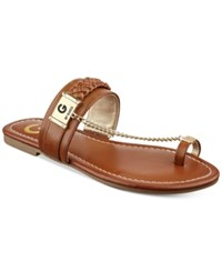 G By Guess Limitt Chained Flat Sandals Women's Shoes Light Natural