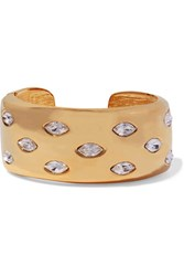 Kenneth Jay Lane Gold Tone Crystal Cuff