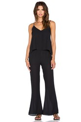 Eight Sixty Flare Leg Jumpsuit Black