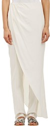 Baja East Combo Drape Skirt And Pants White Size 1 S