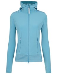 Adidas Stella Mccartney Harbour Blue Quilted Zip Up Hoodie