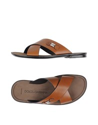 Dolce And Gabbana Footwear Sandals Men Brown