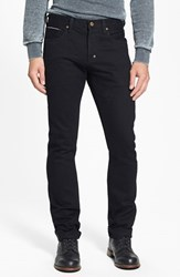 Men's Prps 'Demon' Slim Straight Leg Selvedge Jeans Black Raw