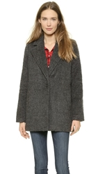 Madewell Cocoon Coat Heather Coal