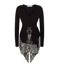 Givenchy Lace Trim Belted Top Female Black