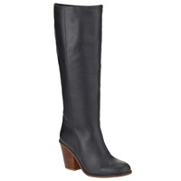 Kin By John Lewis Pippi Long Leather Knee High Boots Black