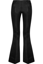 Acne Studios Mello Cotton And Silk Blend Flared Pants Black