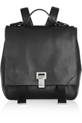 Proenza Schouler Courier Textured Leather Backpack Black