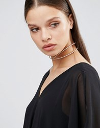 Aldo Cross Choker Gold