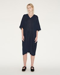 Comme Des Garcons Wool Gauze Dress Navy