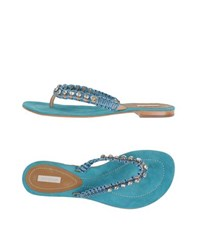 Coral Blue Footwear Thong Sandals Women